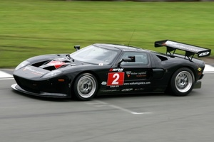 Alex Mortimer in the RPM Ford GT at Donington Park, July 2009