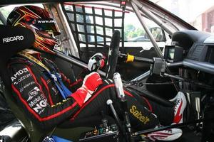 Andrew Jordan ready for action in the HiQ MSA BTCC