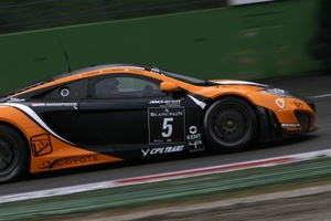 Jack Clarke in action in the Blancpain Endurance Series