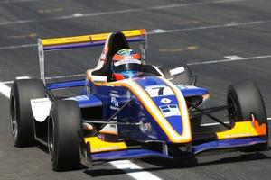 Dean Stoneman racing in the Formula Renault UK Championship with Alpine Motorsport in 2009