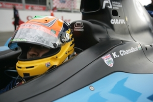 Karun Chandhok in the Ocean Racing Technology GP2 car
