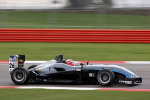 Mitch Evans in action at Silverstone