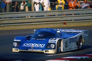 Vern in the Porsche 962C at Le Mans in 1989