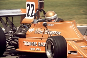 Vern in the Ford Ensign in the 1974 Grand Prix series