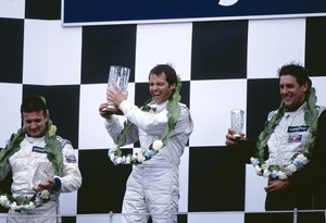 Kelvin on the podium 2002 ASCAR championship