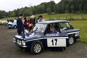 Andrew and his Hillman Imp at Perth, 2008