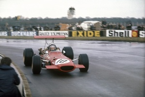 Derek at International Trophy meeting at Silverstone 1969