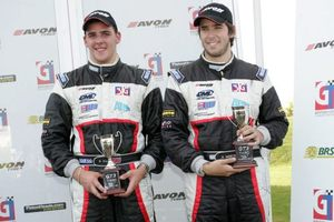 Bradley with Alex Mortimer at the Croft 2007 British GT Championship