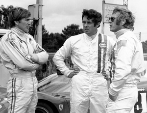 Brian at Le Mans, June 1970 with Derek Bell and Steve McQueen