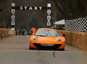 Chris in the McLaren MP4-12C at Goodwood in March 2011