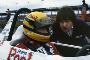 Dick with Ayrton Senna at 1983 British F3 Championship at Silverstone