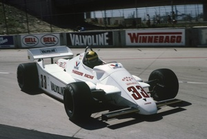 Derek in the Theodore at Long Beach 1982