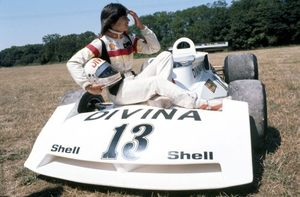Divina in the Surtees TS16 in 1976
