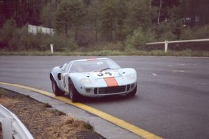 David driving the Ford GT40 at Watkins Glen in 1968