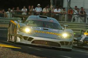 Johnny in the Saleen S7R at Le Mans in 2006