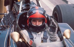 Emerson in the Lotus at the 1972 German Grand Prix