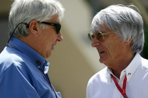 Herbie with Bernie Ecclestone at the 2008 Bahrain GP