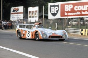 Howden in a Mirage M6 Ford Cosworth at 1973 Le Mans 24h