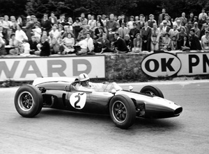 Sir Jack at 1960 Belgium GP in a Cooper Climax T53