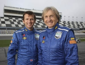 Justin with father Derek Bell at 2008 Daytona Beach