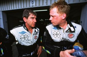 Julian with Jamie Cambell-Walker at the Silverstone 2001 FIA GT meeting