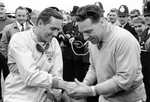 Sir Jack and John Cooper at the 1960 British GP at Silverstone