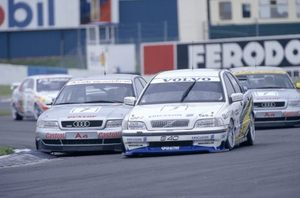 John in the Audi chasing R Rydell at Donnington 1997