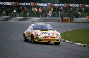 John in the Porsche 911S at Nurburgring 1972