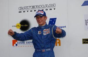 Joey winning the Formula Ford Festival at Brands Hatch, October 2003