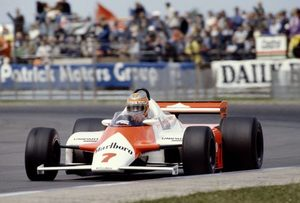 John winning the 1981 in the McLaren MP4