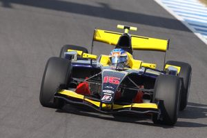 James in Jerez, Spain in the GBR, Super Nova Racing GP2