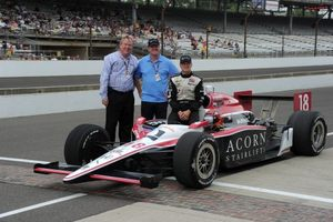 James with Dad and Dale Coyne in May 2011 at Indianapolis
