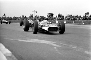 John in the Cooper T60-Climax at the 1965 British GP at Silverstone