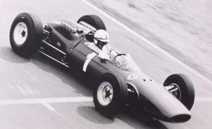 John in the Ferrari F158 in East London at the 1965 South Africian Grand Prix