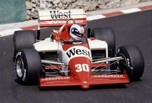 Jonathan in the Zakspeed 841 at the 1985 Monaco GP