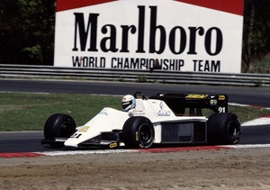 Mauro at 1984 Belgium Grand Prix in Spirit 101 Hart