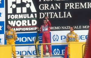 Martin's 2nd place at the 1992 Italian Grand Prix