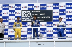 Mark's 3rd place at the 1993 German Grand Prix