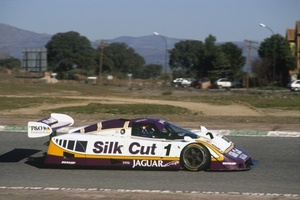 Martin at Jarama, Spain in 1988 in the World Sportcar Championship Jaguar
