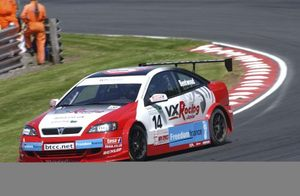 Michael at Oulton Park 2005 BTCC meeting in the VXR Junior Techspeed Vauxhall Astra