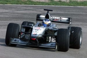 Mika in the McLaren Mecedes at the Spanish 2001 GP