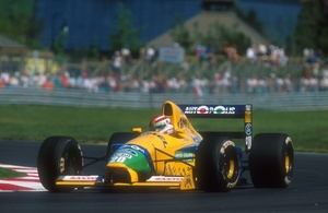 Nelson driving the Benetton B191 Ford at the 1991 Canadian GP