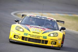 Oliver in the Chevrolet Corvette Racing C6 ZR1 testing for 2011 Le Mans 24 Hours
