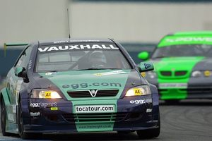 Phil in the Team Egg Sport Vauxhall AstraBTCC in 2001