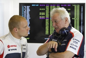 Pat with Valtteri Bottas of Williams F1 at the Abu Dhabi 2013 GP