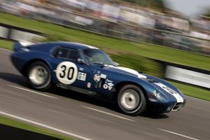 Ray at Goodwood's 2006 RAC TT Celebration Race with Shelby Cobra Daytona Coupe