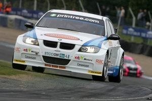 Rob at Knockhill 2010 in the WSR BMW