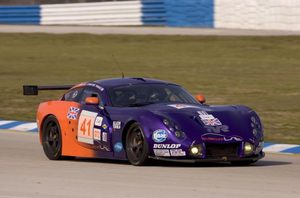 Richard at Sebring 2005 driving the TVR 400R
