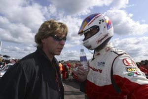 Robb with Matt Neal at the 2003 BTCC meeting at Truxton