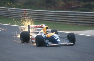 Richardo on the way to winning the 1991 Portuguese GP at Estoril